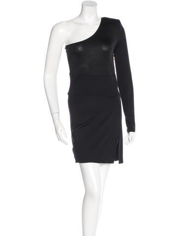 Balmain One-Shoulder Mini Dress None
