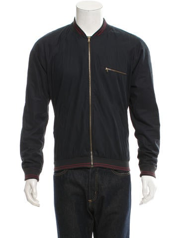 Band of Outsiders Rib Knit-Trimmed Zip-Up Jacket None