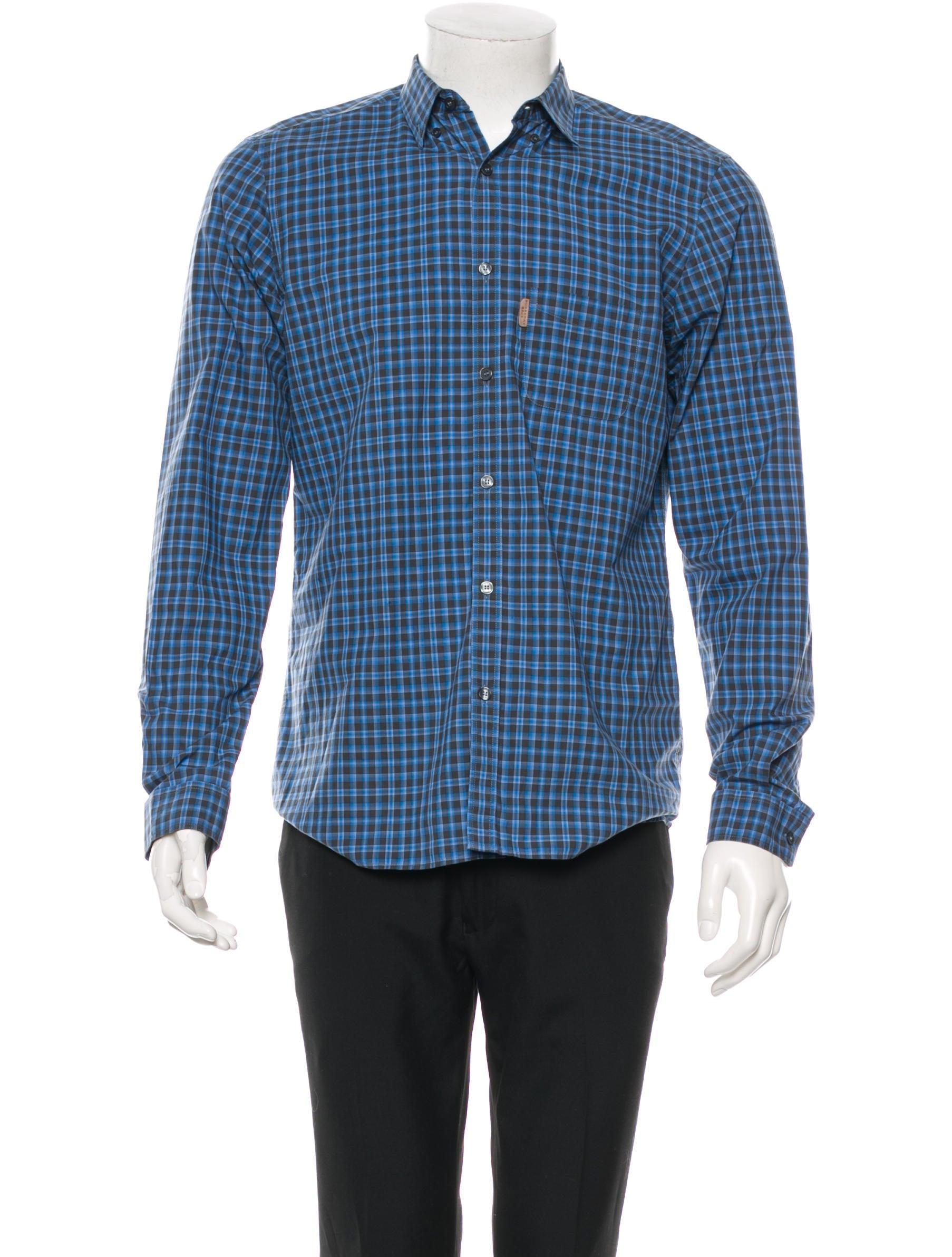 Burberry Brit Plaid Button Up Shirt Mens Shirts