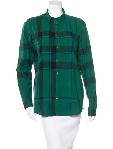 Burberry Brit Burberry Exploded Check Top None