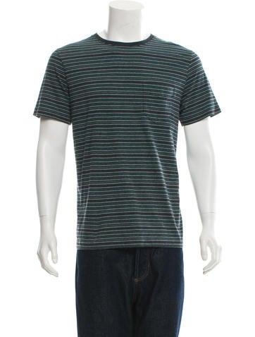 Billy Reid Striped Crew Neck T-Shirt None
