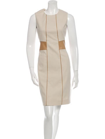Belstaff Leather-Accented Sleeveless Dress None