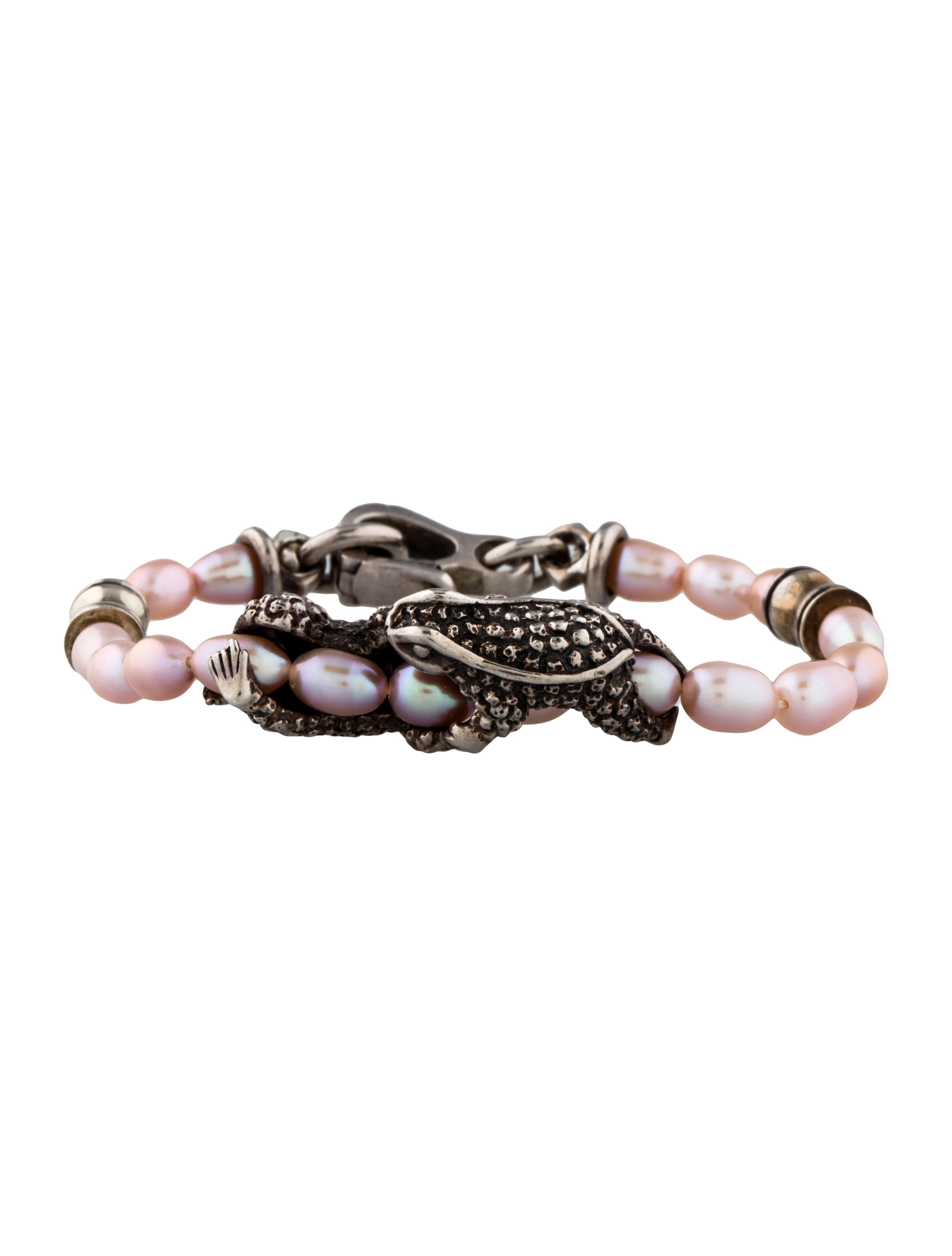 Barry kieselstein cord pearl toad bracelet bracelets for Barry kieselstein cord jewelry