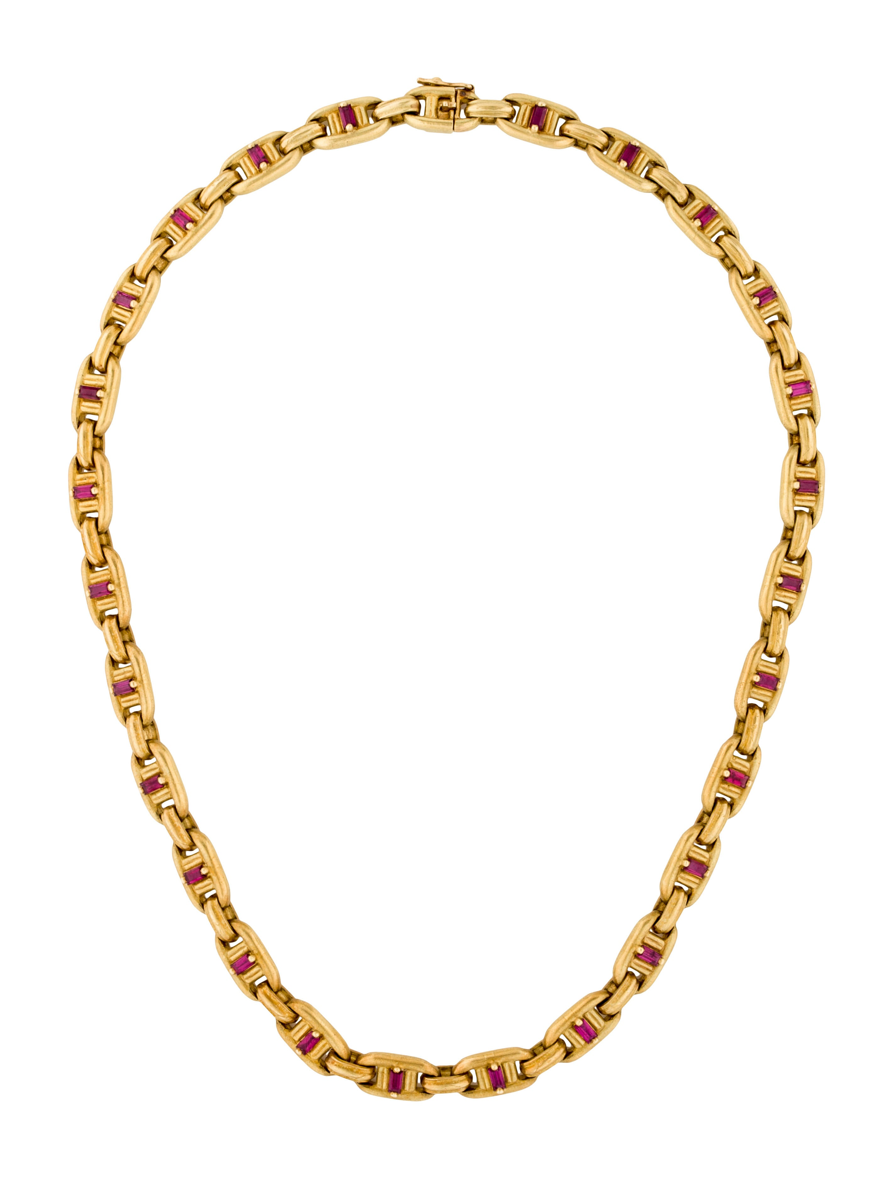 Barry kieselstein cord ruby link chain necklace for Barry kieselstein cord jewelry