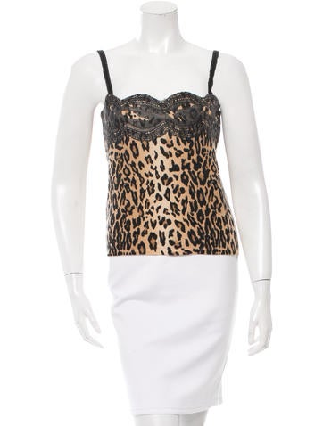 Blumarine Leopard Print Wool Top None