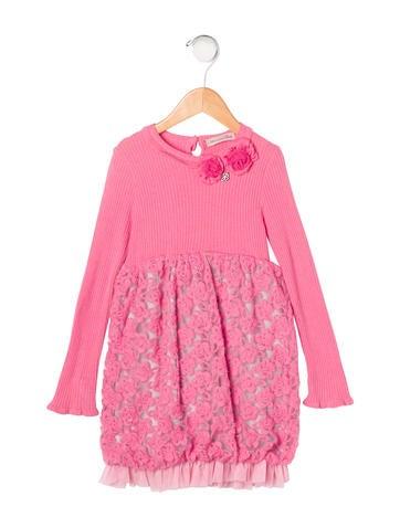 Blumarine Girls' Embellished Knit Dress None