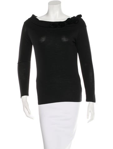 Blumarine Wool Embellished Top None