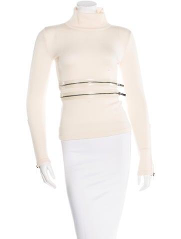 Blumarine Wool Zip-Accenet Sweater None