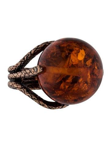 Bottega Veneta Spinning Amber Ring