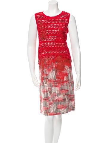 Bottega Veneta Silk Crochet Overlay Dress w/ Tags