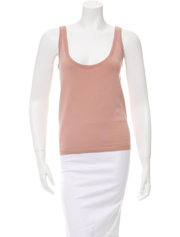 Bottega Veneta Sleeveless Scoop Neck Top None