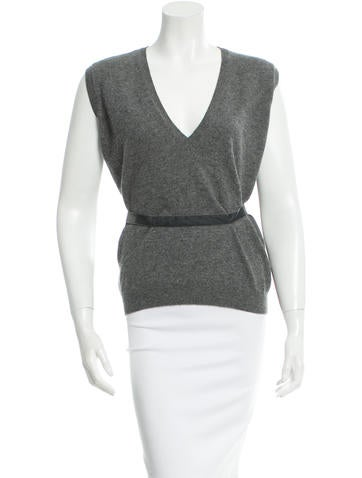 Bottega Veneta Cashmere V-Neck Top None