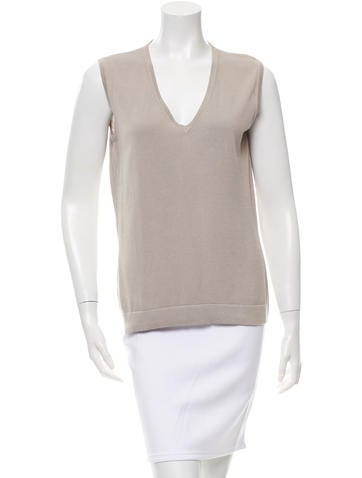 Bottega Veneta Sleeveless Knit Top None