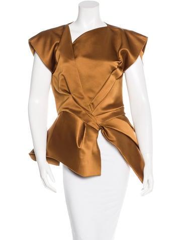 Bottega Veneta Silk Structured Top None