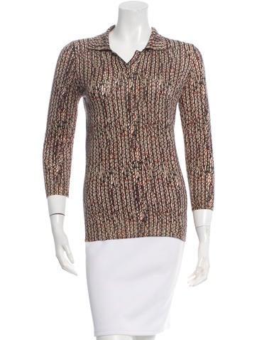 Bottega Veneta Cashmere Patterned Knit Top None
