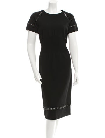 Bottega Veneta Embellished Cutout Dress w/ Tags None