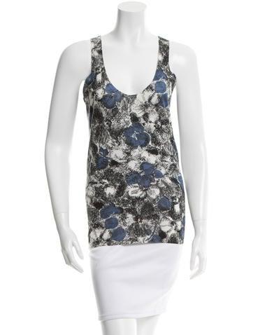 Bottega Veneta Floral Pattern Cashmere Top w/ Tags None