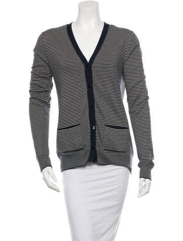 Boy. by Band of Outsiders Knit Striped Cardigan None