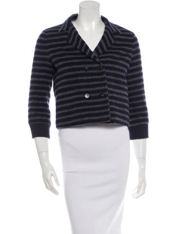 Boy. by Band of Outsiders Striped Knit Blazer None