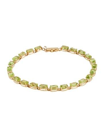 14K Peridot Line Bracelet None