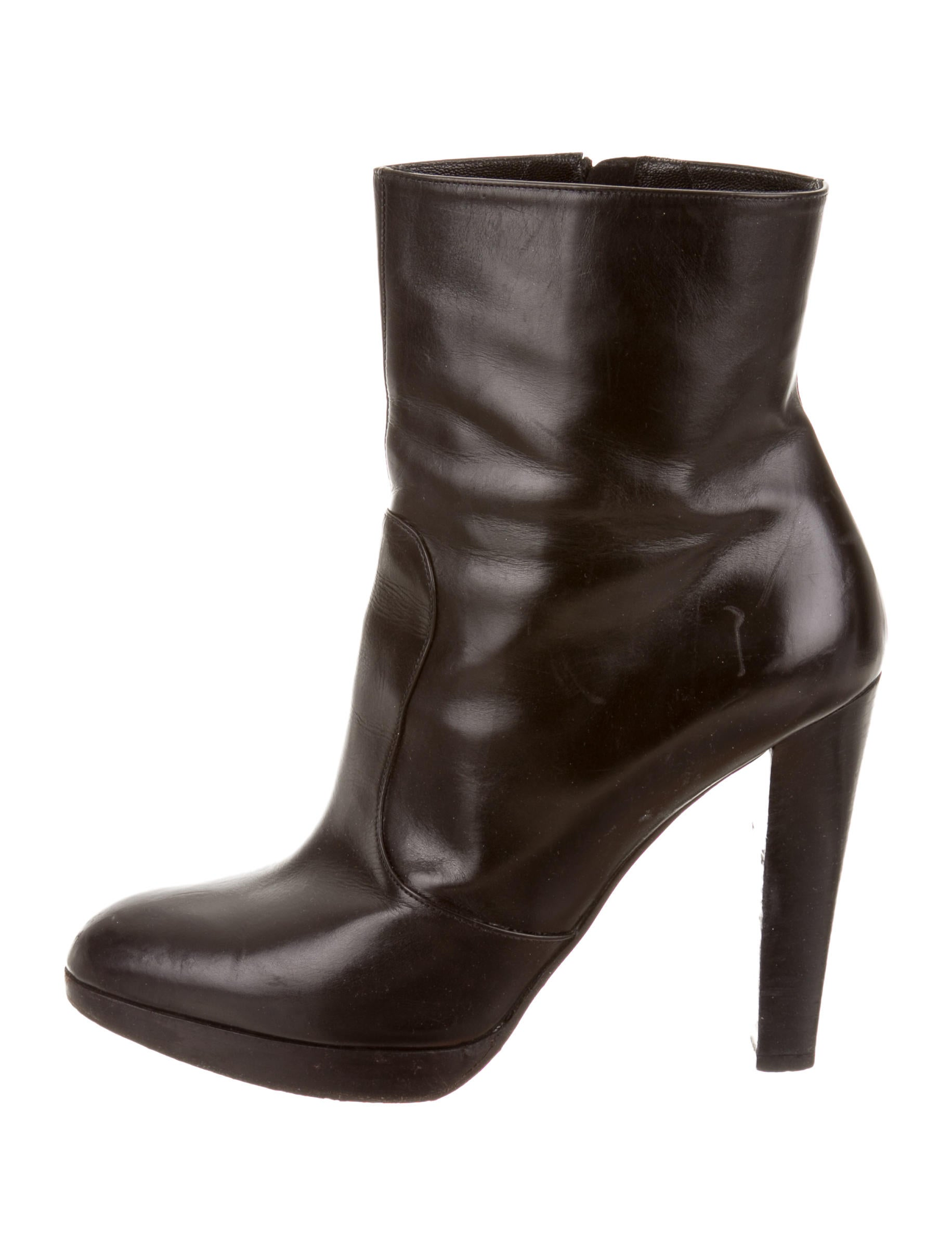 brian atwood leather platform ankle boots shoes