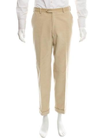 Brioni Cuffed Corduroy Pants None