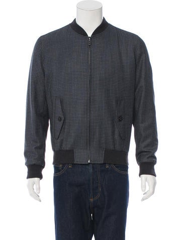 Brioni Wool & Cashmere-Blend Bomber Jacket None