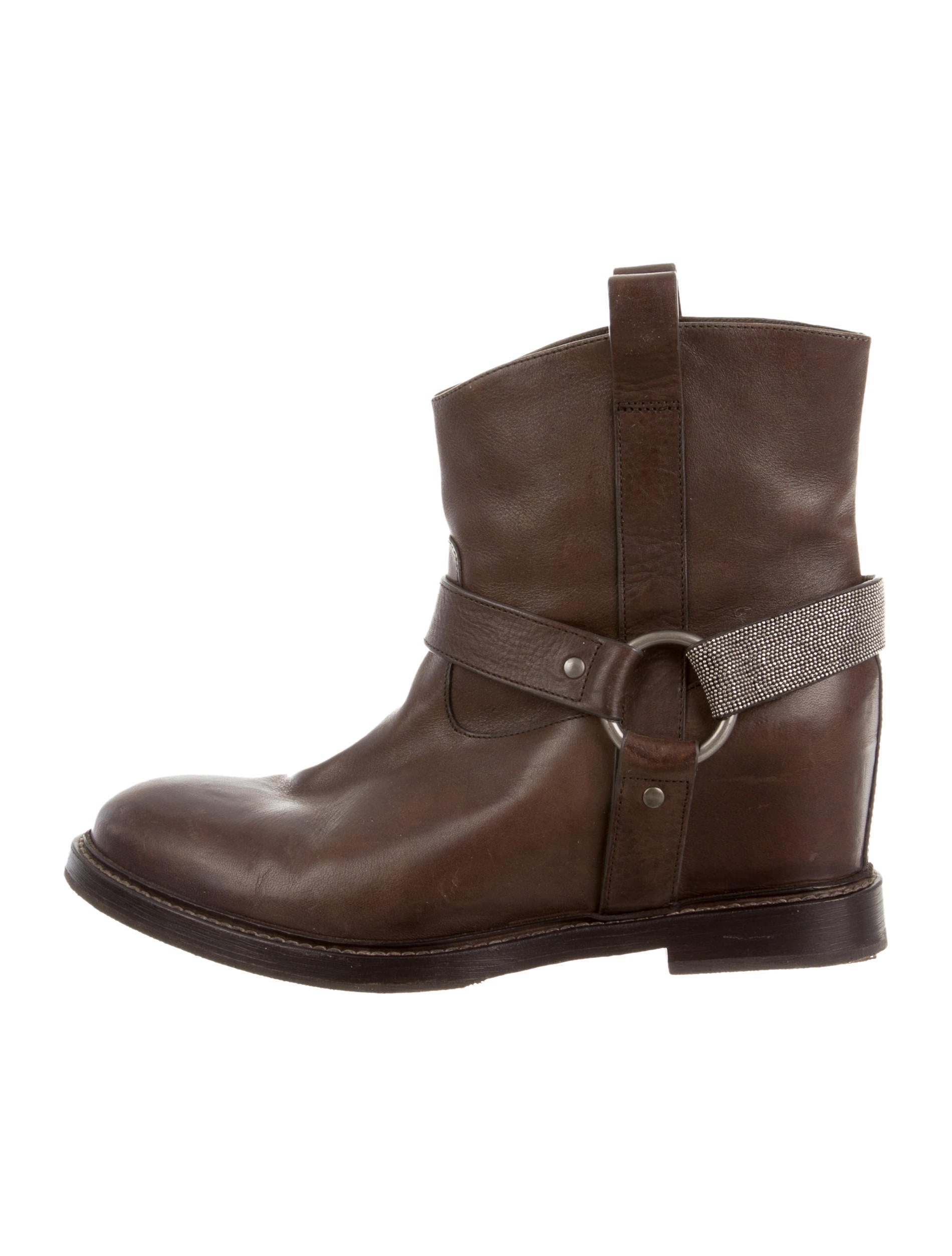 brunello cucinelli leather ankle boots shoes bru29958