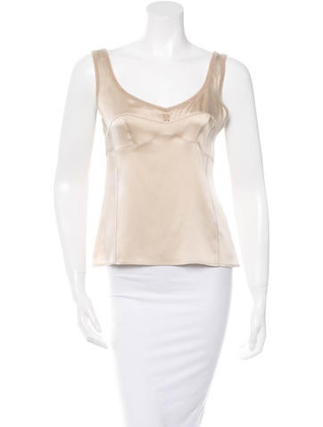 Brunello Cucinelli Rib Knit Trimmed Silk Top None