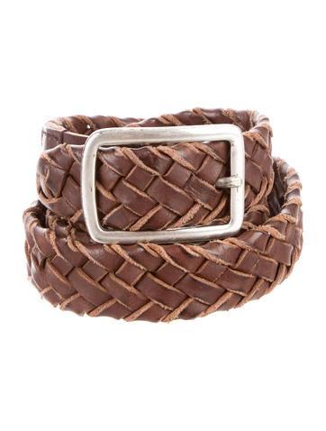 Brunello Cucinelli Braided Leather Belt w/ Tags