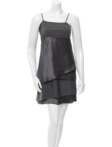 Brunello Cucinelli Overlay Sleeveless Dress None