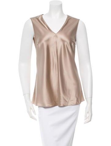 Brunello Cucinelli Silk Sleeveless Top None