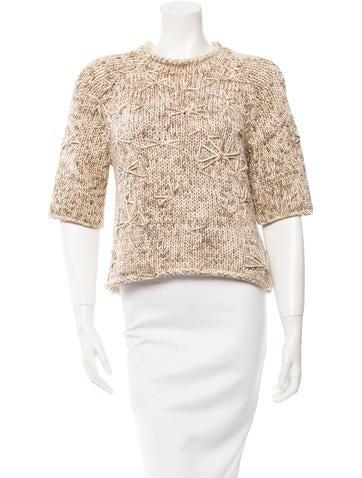 Brunello Cucinelli Knit Short Sleeve Sweater None