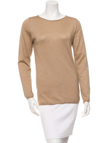 Brunello Cucinelli Cashmere-Blend Long Sleeve Top None