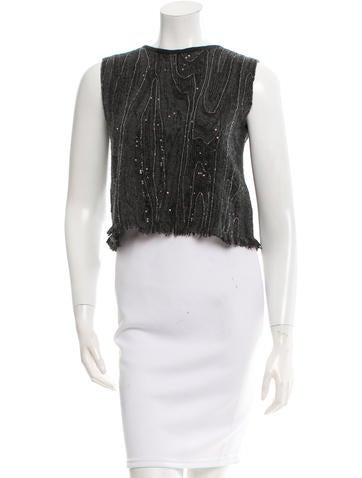Brunello Cucinelli Monili-Embellished Cashmere Top None
