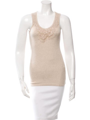 Brunello Cucinelli Sequined Rib Knit Top None