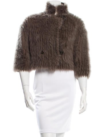 Brunello Cucinelli Cashmere & Shearling Jacket None