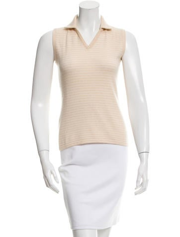 Brunello Cucinelli Cashmere Striped Top None