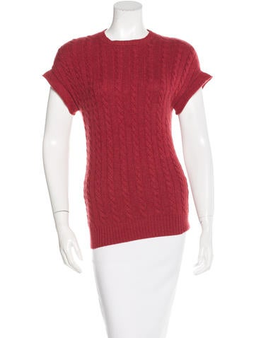 Brunello Cucinelli Cable Knit Cashmere Top None