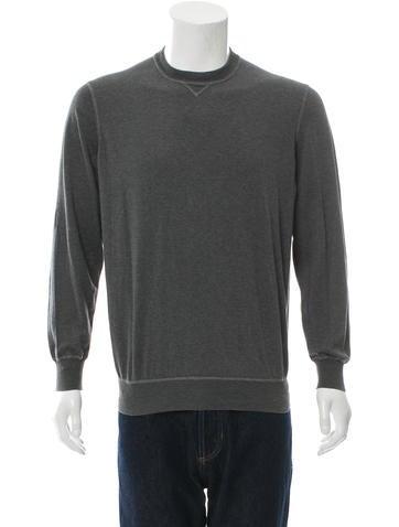 Brunello Cucinelli Pullover Rib Knit-Trimmed Sweater None