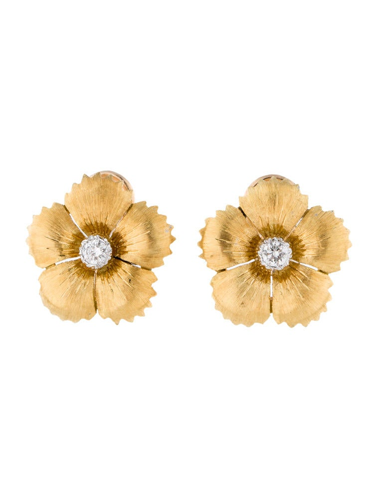 Buccellati Diamond Flower Earrings