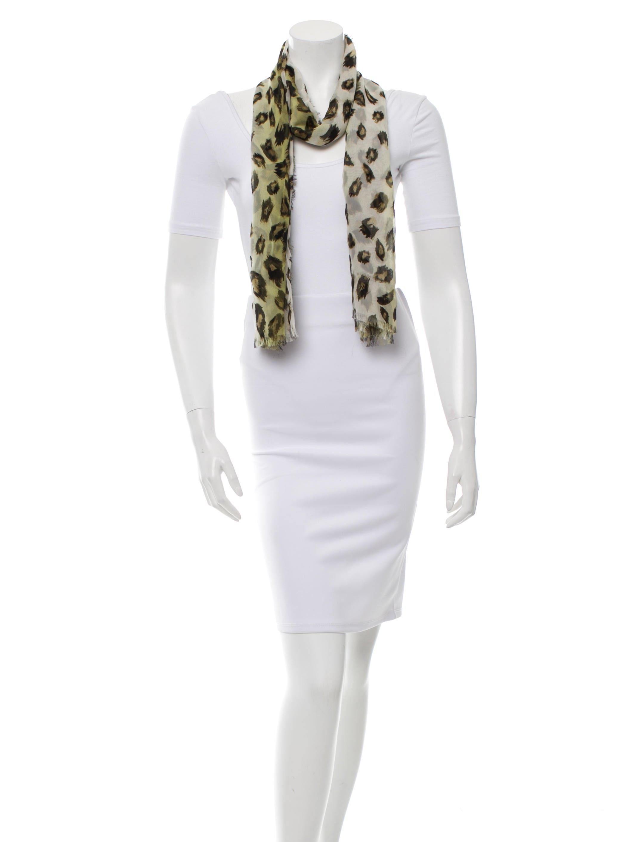 burberry prorsum leopard print silk scarf accessories