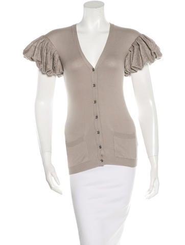 Burberry Prorsum Short Sleeve Rib Knit Cardigan w/ Tags None