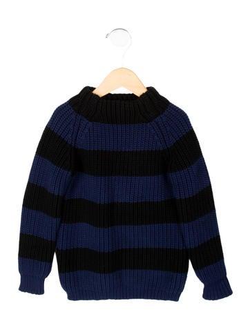 Burberry Boys' Striped Mock Neck Sweater None
