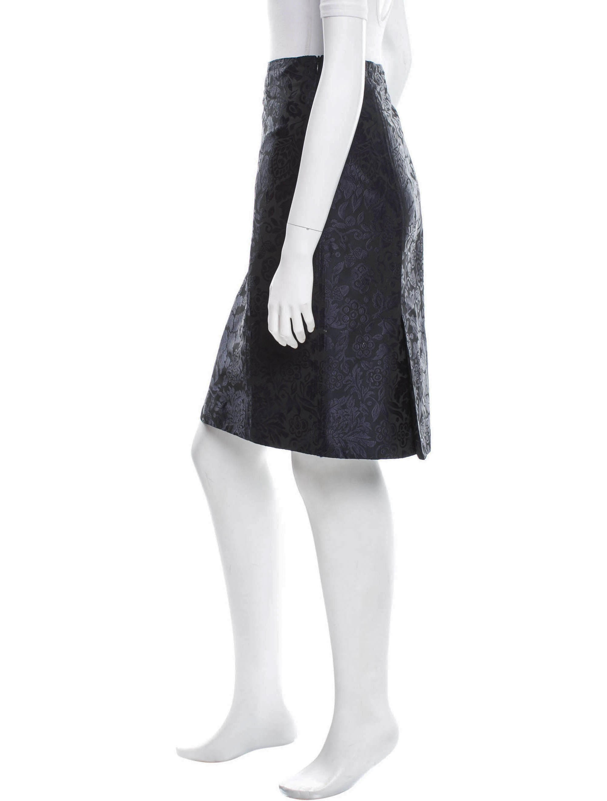 burberry patterned pencil skirt clothing bur46238