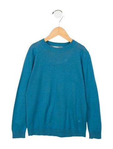 Burberry Boys' Cashmere Blend Crew Neck Sweater None
