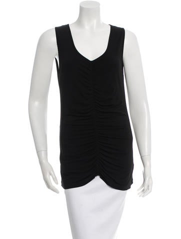 Burberry Sleeveless Ruched Top None