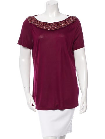 Burberry Jewel-Embellished Knit Top None