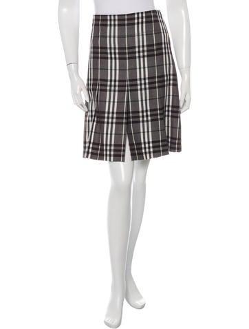 Burberry Wool Nova Check Skirt None