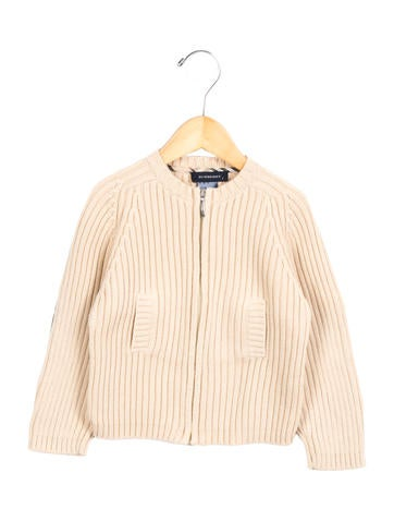 Burberry Boys' Nova Check-Paneled Zip-Up sweater None